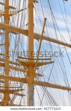 VARNA, BULGARIA, 22.05.2016: The world's largest sailing ship Royal Star Clipper in the port city of Varna Bulgaria