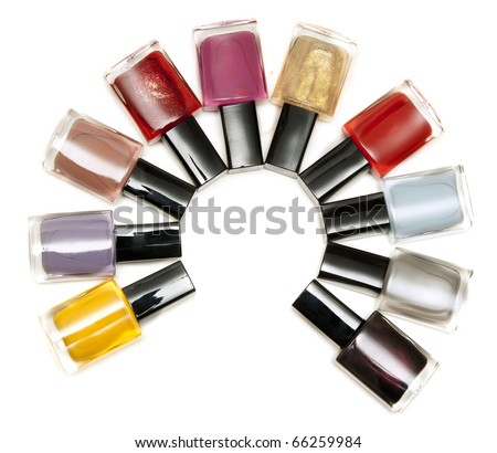 Varnish for nail insulated on white background - stock photo