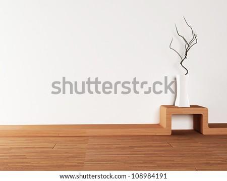 vase on the creative table - stock photo