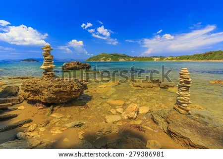 Vasilikos, Gerakas Beach - Zakynthos, Greece - stock photo