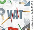 VAT tax accounting financial business background - stock photo