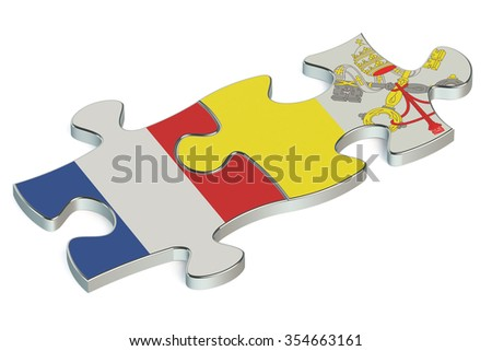 Vatican and France puzzles from flags