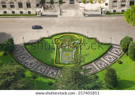 Vatican gardens - stock photo