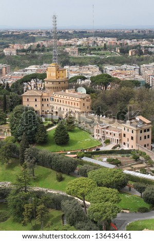 Vatican gardens from the Basilica's Cupola
