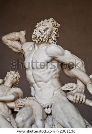 Vatican Museums, Rome, Italy: collection of statues - stock photo