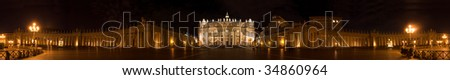 Vatican - night`s view of St. Peter's Square - stock photo