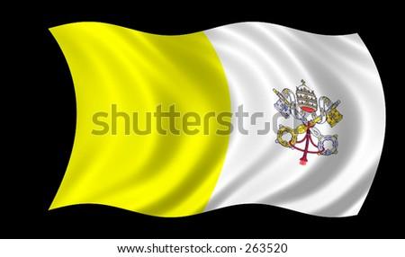 Vatican's Flag - stock photo
