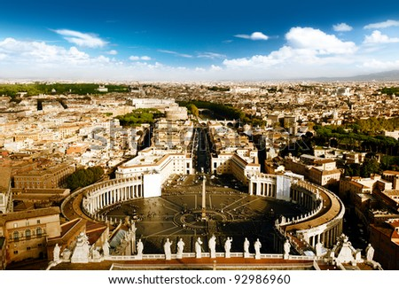 Vatican square of saint Peter - stock photo