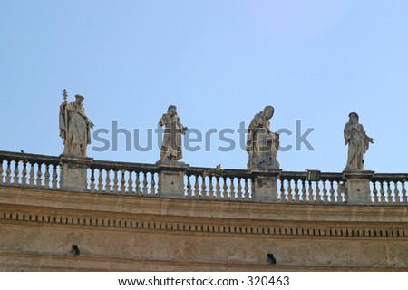 Vatican Statues - stock photo