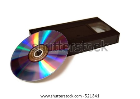 VCR and DVD - stock photo
