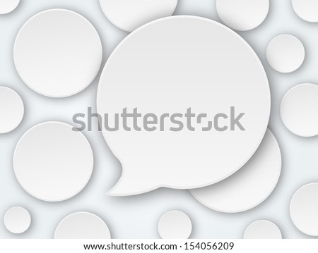 vector abstract background balls speech bubble