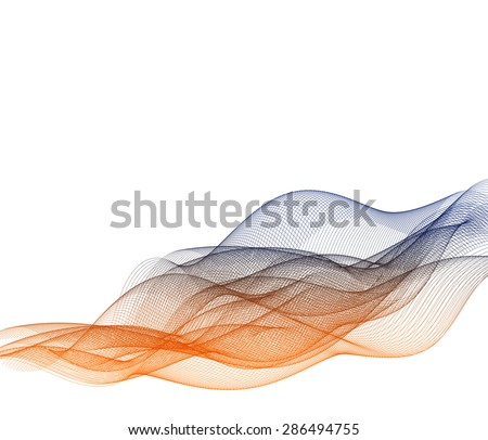 Vector Abstract curved lines background - stock photo