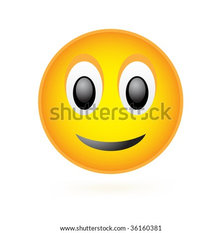 Vector Classic Smile Face isolated on white - stock photo