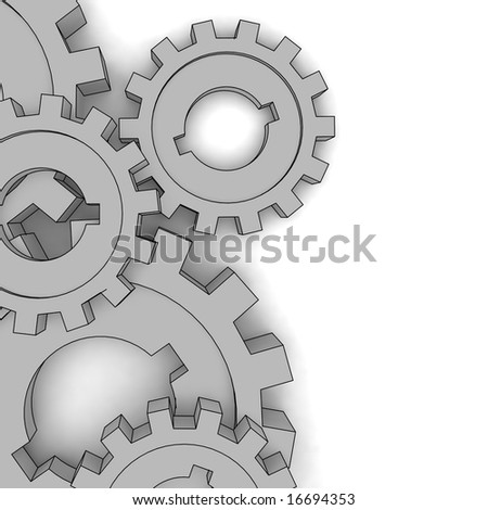 vector cogwheels - business network - isolated illustration