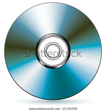 Vector compact disc - blend and gradient only - stock photo