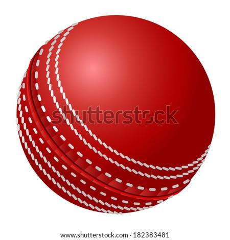 Vector cricket ball. - stock photo
