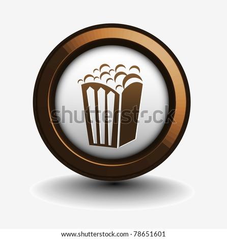 vector design of popcorn icon isolated on white. - stock photo