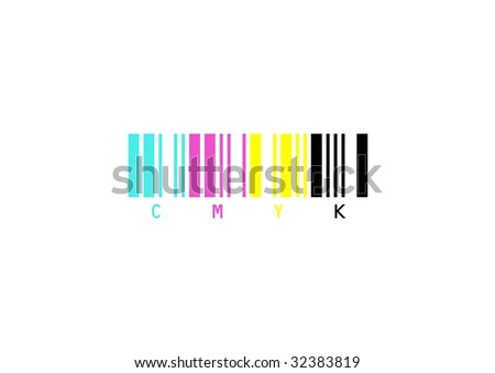 Vector draw of print bar code - stock photo