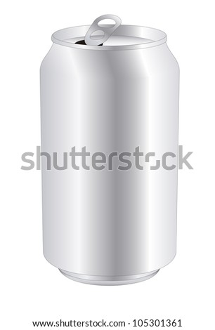 vector drink can over white background