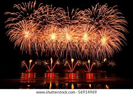 vector firework - stock photo