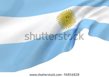 Vector Flags of Argentina - stock photo