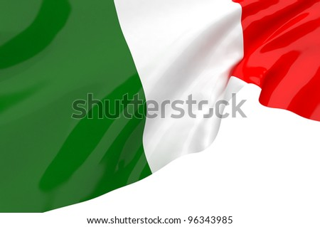 Vector Flags of Italy - stock photo