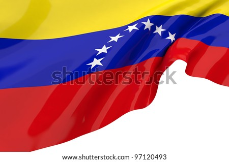 Vector Flags of Venezuela - stock photo