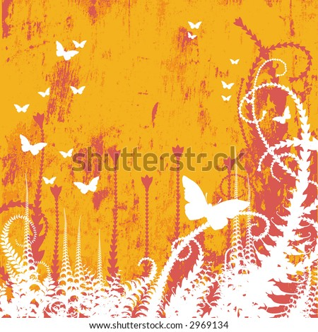 Vector Floral Textured Background, JPEG - stock photo