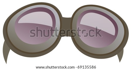 vector goggle illustration