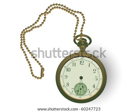 Vector illustration of an antique pocketwatch.