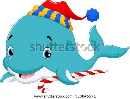 Vector illustration of christmas fish - stock photo