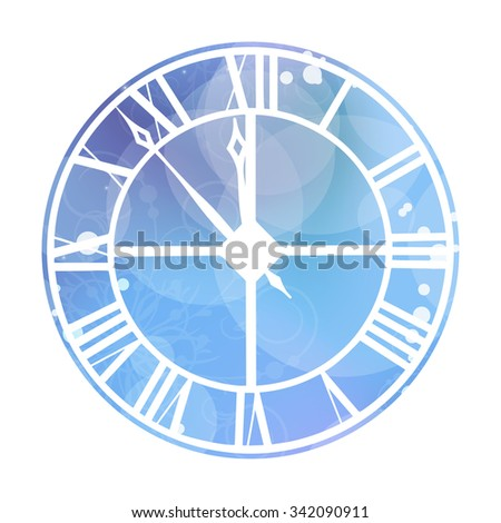 Vector illustration of clock  - stock photo