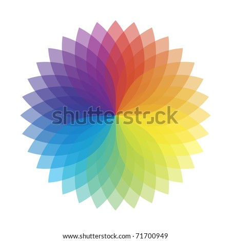 Vector illustration of color abstract flower - stock photo