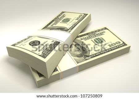 vector illustration of dollar note against white background - stock photo
