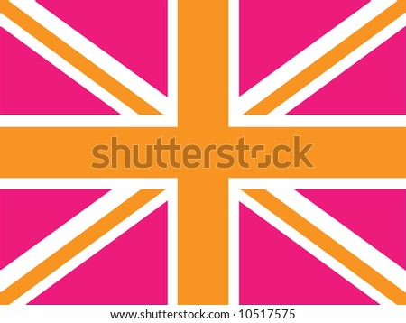 Vector image of a Union Jack - can be changed to any size or color - stock photo