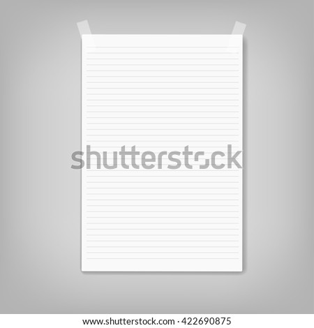 Vector Note Paper - stock photo