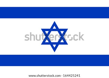 vector of israel flag - stock photo