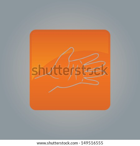 Vector palm background.  illustration  - stock photo