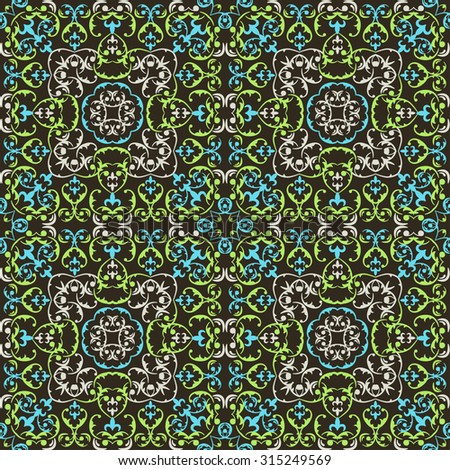 Vector seamless l ornament  pattern .  element for design in east  style.Ornate floral decor for wallpaper.  - stock photo
