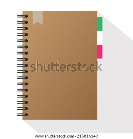 Vector Spiral Brown note book