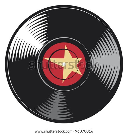 vector vinyl disc (record) - stock photo