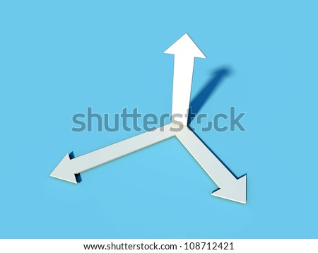 vectors in direction of x,y and z axis - stock photo