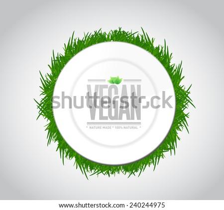 vegan food concept illustration design over a white background - stock photo