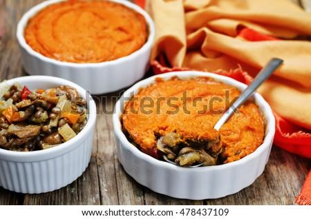 vegan green lentil mushroom sweet potato Shepherds pie. toning ...