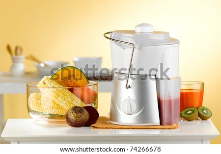 vegetable and juice maker machine great for your health, an image isolated in the kitchen interior