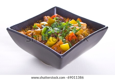 Vegetable and meat stew - stock photo