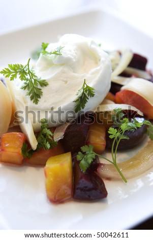Vegetable Beet Salad - stock photo