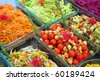 Vegetable buffet in a garden party - stock photo