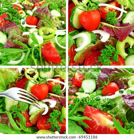 vegetable collection - stock photo