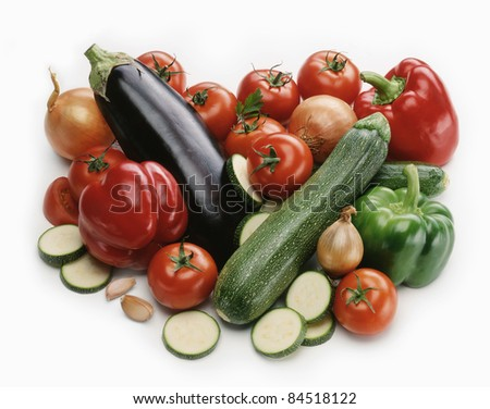 Vegetable composition - stock photo